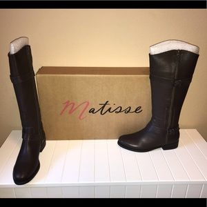 NWT Matisse Leather Riding Boots